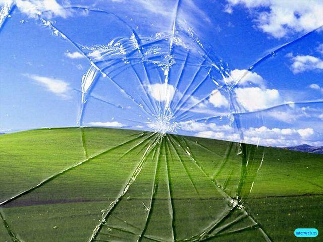 Пейзажи, bliss, broken screen, блаженство, облака, landscapes, Windows XP,